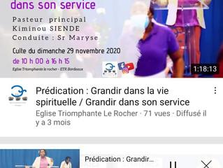 Grandir spirituellement dans son service