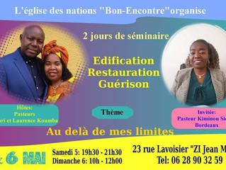 #Pasteur Kiminou SIENDE en #mission à Agen
