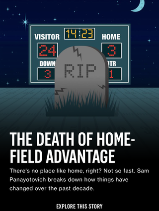 The Death of Home-Field Advantage