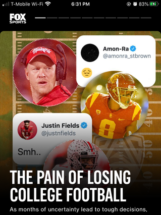 The Pain of Losing College Football