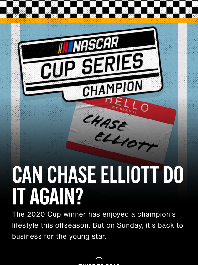 Can Chase Elliott Do It Again?