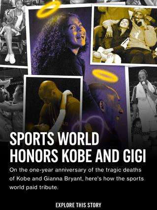 Sports World Honors Kobe and Gigi