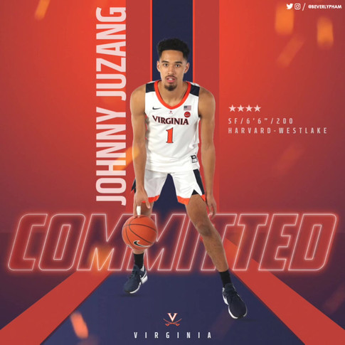 Johnny Juzang Alternate Commitment Graphic