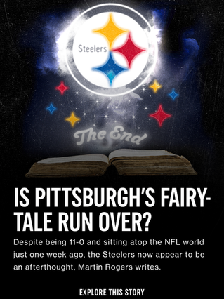 Is Pittsburgh's Fairy-Tale Run Over?