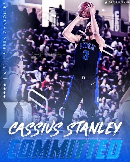 Cassius Stanley Jersey Swap/Commitment Graphic