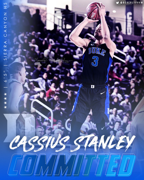 Cassius Stanley Jersey Swap/Commitment Graphic