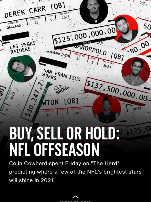 Buy, Sell or Hold: NFL Offseason