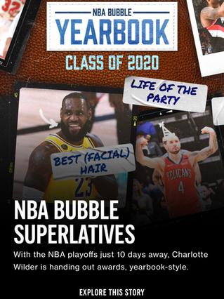 NBA Bubble Superlatives
