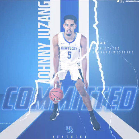 Johnny Juzang Commitment Graphic