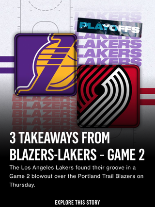3 Takeaways from Blazers-Lakers - Game 2