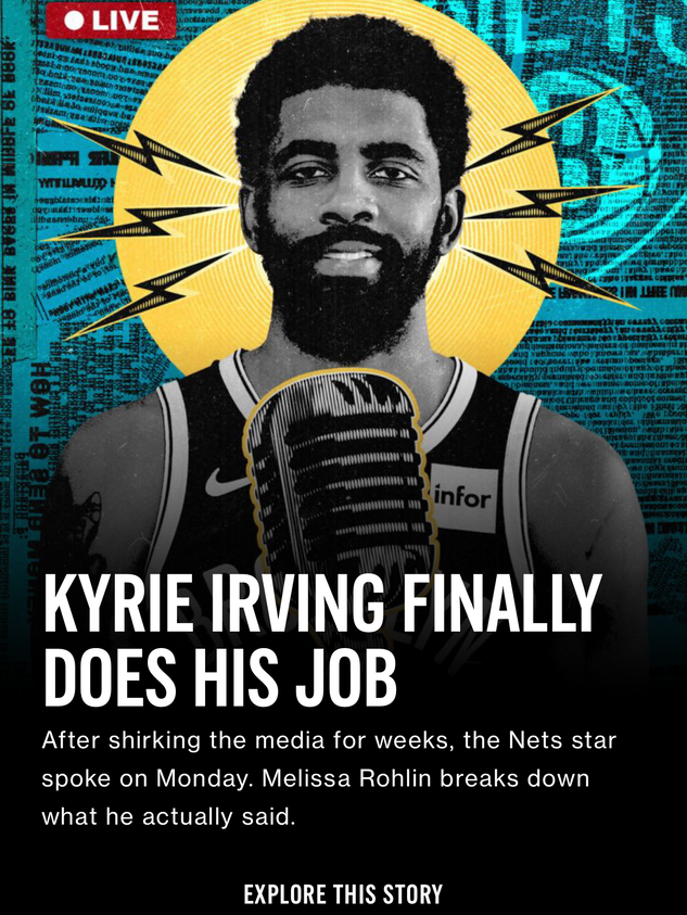 Kyrie Irving Finally Does His Job