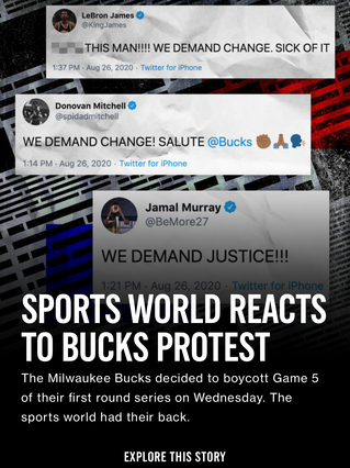 Sports World Reacts to Bucks Protest