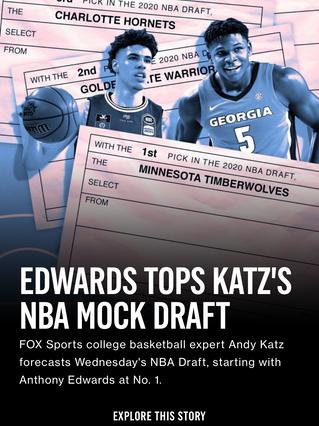 Edwards Tops Katz's NBA Mock Draft