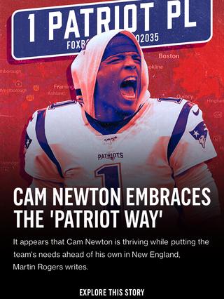 Cam Newton Embraces the 'Patriot Way'