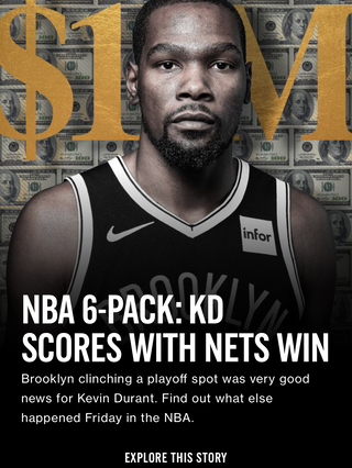NBA 6-Pack: KD Scores with Nets Win