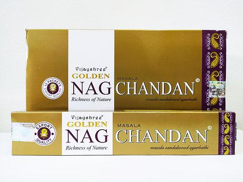 GOLDEN NAG CHANDAN - INCENSO INDIANO MASSALA (VALOR UNITÁRIO)