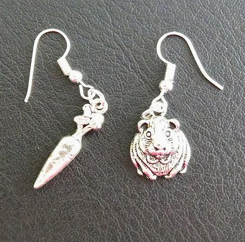 Guinea pig & Carrot earrings