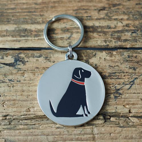 Dog tag black labrador