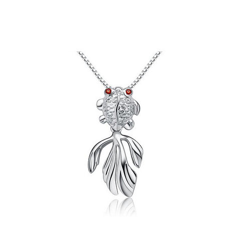 Goldfish sterling silver necklace