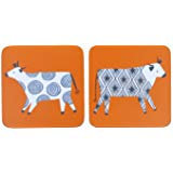 Curious cows 4pck coasters