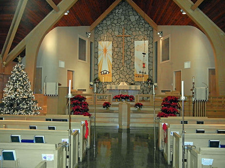 Augustana Lutheran Church at Christmas