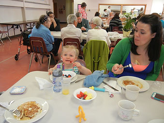 Augustana Lutheran Church Easter friendly family brunch.