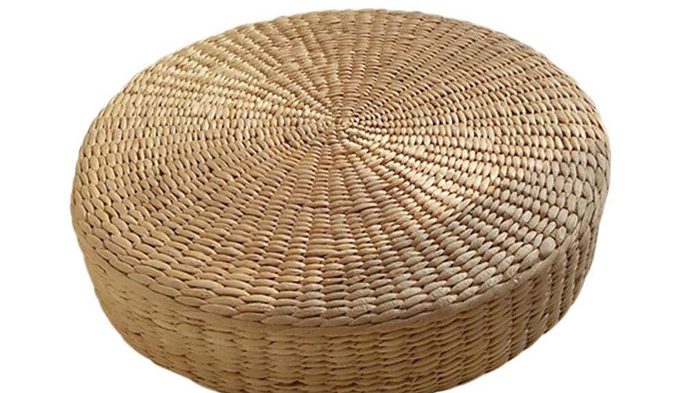 Yoga Pillow Eco-Friendly Round Straw