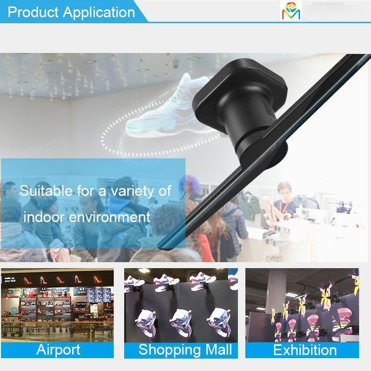 Clapsem Z1-42cm 3D hologram LED fan features