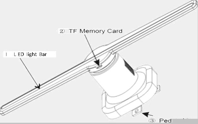 Clapsem Z1-42cm 3D hologram LED fan