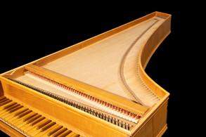 Early 17th century Venetian harpsichord, copy made by David Jensen