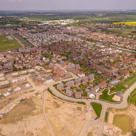 Drone Photography of Housing Development in Lower Stondon, Bedfordshire