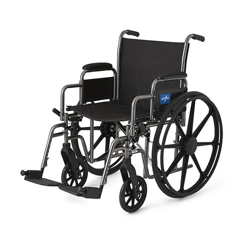 "K1 Basic Extra-Wide Wheelchair 20"" DLA, SA FOOTREST"