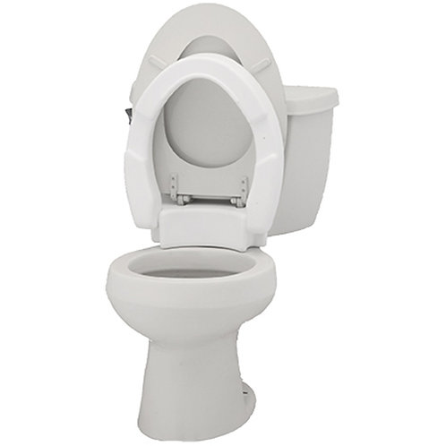 Elongated Hinged Toilet Seat Riser