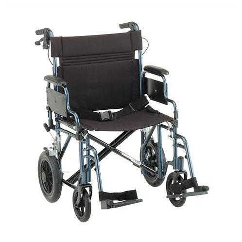 22″ Seat Transport Chair w/ 12″ rear wheels
