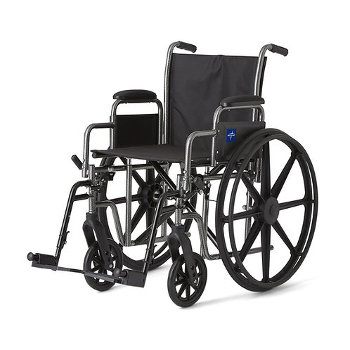 "K1 Basic Wheelchair 18"" DLA, S / A FOOT"