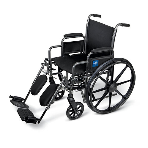 """K1 Basic Extra-Wide Wheelchair 20"""" DLA, ELEV LEG"""