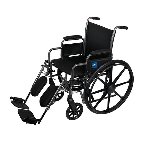 "K1 Basic Wheelchair 18"" DLA, ELR FOOT"