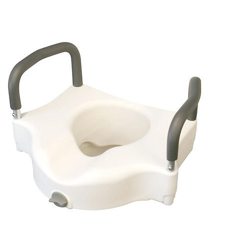 Elevated Locking Toilet Seat with Arms