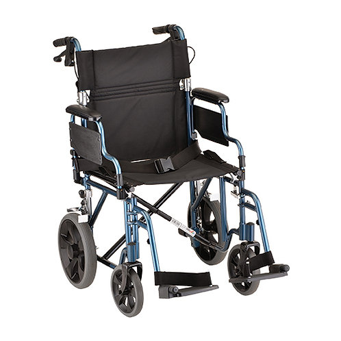"19"" Seat Transport Chair with 12″ Rear Wheels"