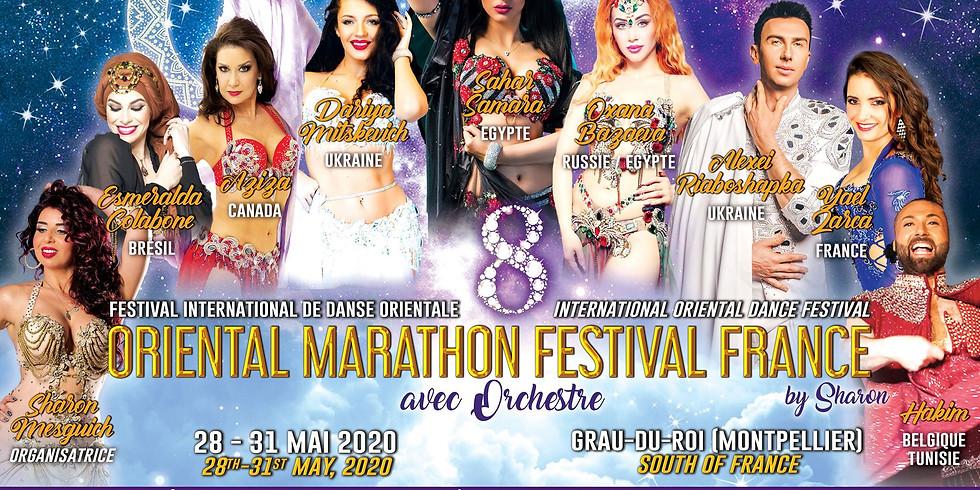 Préinscription au voyage organisé Oriental Marathon festival Montpellier 2020 avec Fériel