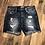 Thumbnail: Dark Wash Distressed Shorts