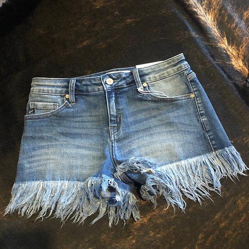 KanCan Fray Hem Shorts