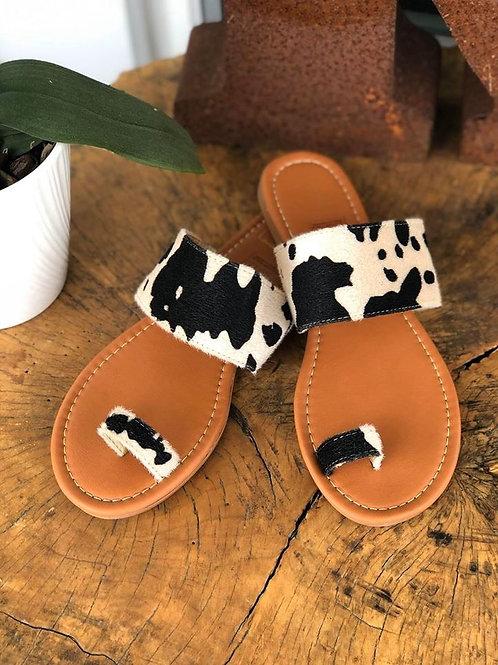 Cowhide Sandals