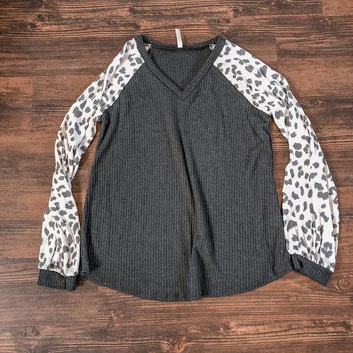 Black Cheetah Sweater