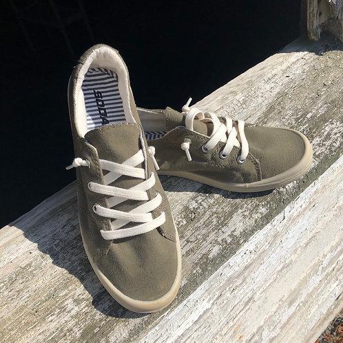 Olive Slip On Sneakers