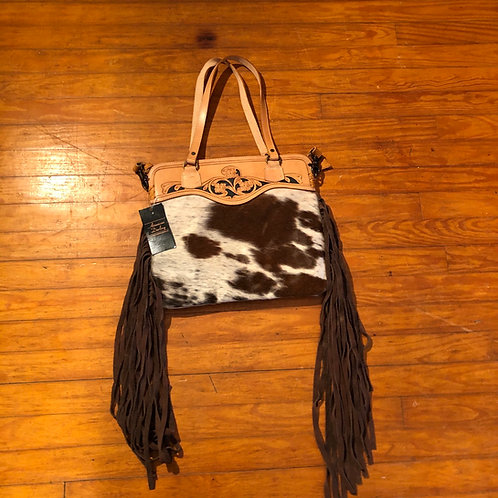 Hide & Tooled Leather Bag