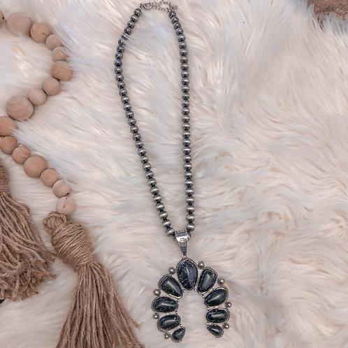 Black Onyx Navajo Necklace