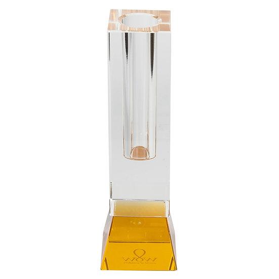 Vaso de vidro Solitário base ambar