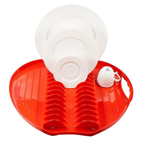 Escorredor de Louças de plastico maça vermelho