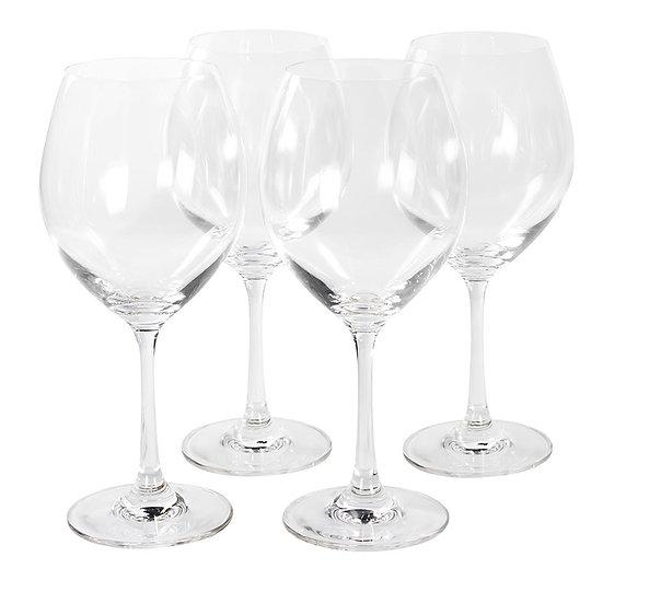 Jogo de 4 taças Crystaline para água/vinho (450ml)